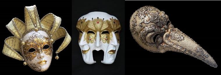 ماسک های مختلف در ونیز