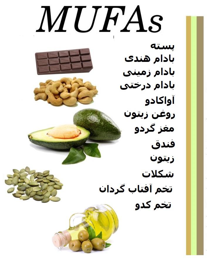 غذاهای حاوی اسید چرب مونو ساکارید برای کم کردن کلسترول بدن